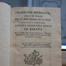 Libros antiguos: GEOGRAFIA MODERNA, POR EL ABAD NICOLLÉ DE LA CROIX. TOMO V. JOACHIM IBARRA 1779. VER FOTOS. Lote 73421495