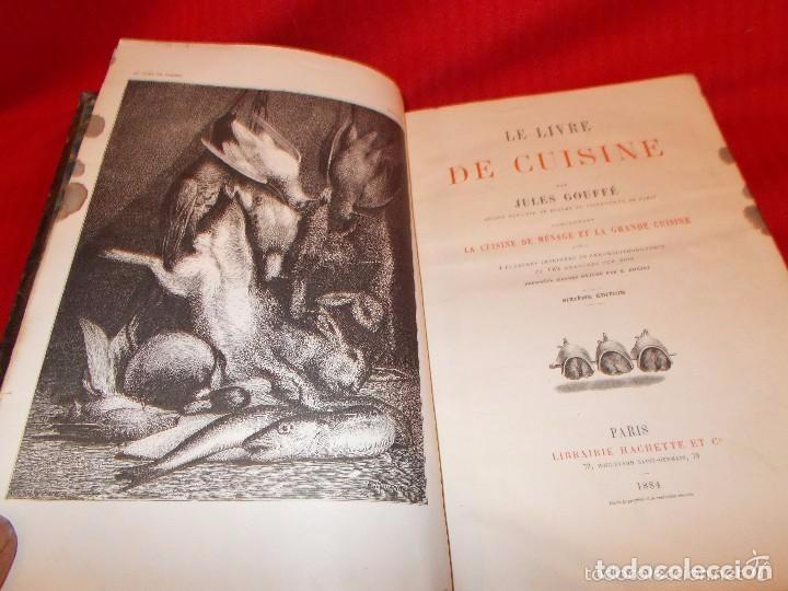 Libros antiguos: Libro de cocina, escrito en Paris, lengua francesa, bien conservado con casi 2 siglos, siglo XIX - Foto 2 - 106920738