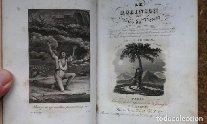 LE ROBINSON DES SABLES DU DÉSERT (1842) / C. H. DE MIRVAL. P. C. LEHUBY. (Libros antiguos (hasta 1936), raros y curiosos - Literatura - Narrativa - Otros)