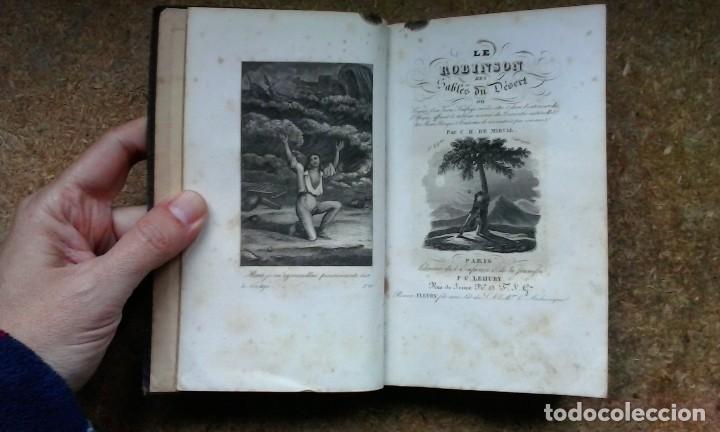 Libros antiguos: Le Robinson des Sables du Désert (1842) / C. H. de Mirval. P. C. Lehuby. - Foto 8 - 73579379