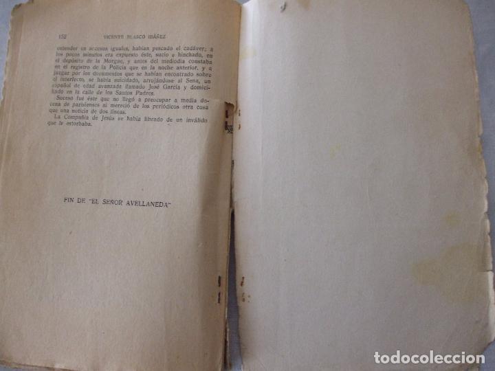 Libros antiguos: EL SEÑOR AVELLANEDA -LA ARAÑA NEGRA - VICENTE BLASCO IBAÑEZ - 1930 - Foto 3 - 73671931