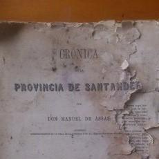 Libros antiguos: CRÓNICA DE LA PROVINCIA DE SANTANDER ASSAS,MANUEL DE. . Lote 73728859