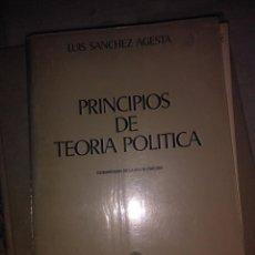 Libros antiguos: PRINCIPIOS DE TEORIA POLITICA. Lote 73744971