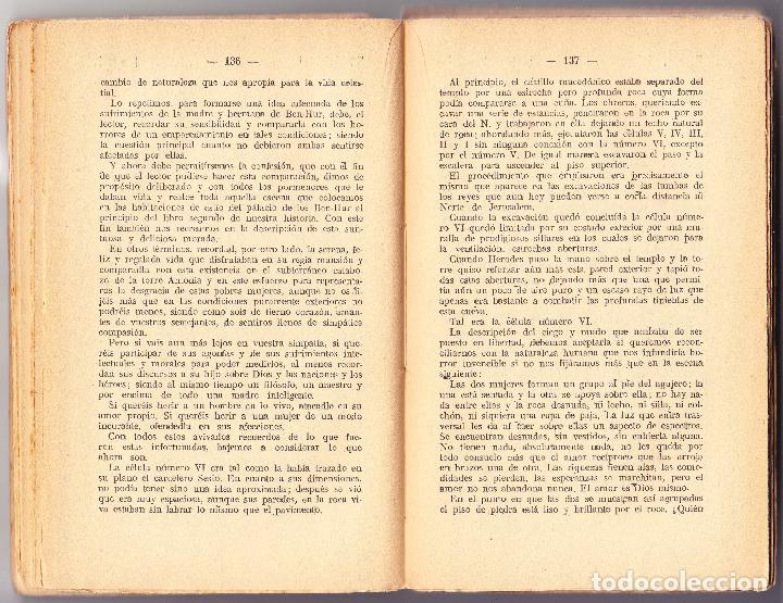 Libros antiguos: BEN HUR - UNA HISTORIA DE CRISTO - TOMO II - LEWIS WALLACE - MAUCCI - Foto 3 - 73768371