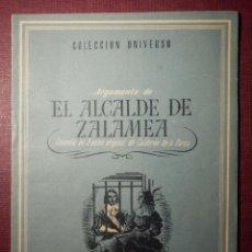 Libros antiguos: COLECCIÓN UNIVERSO - EL ALCALDE DE ZALAMEA - TOMO 15 XV Nº 5 - ED. ESPAÑA. Lote 73949967