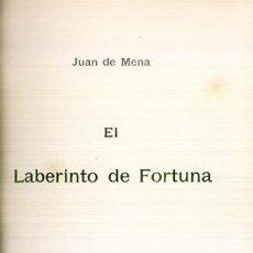 Libros antiguos: EL LABERINTO DE LA FORTUNA - MENA, JUAN DE. Lote 74168735