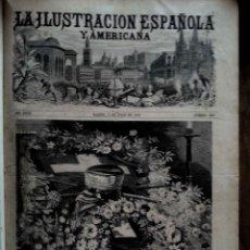 Libros antiguos: LA IIUSTRACION ESPAÑOLA Y AMERICANA (1874) 22 FASICULOS ENCUADERNADOS. PROFUSAMENTE ILUSTRADOS!. Lote 74300115