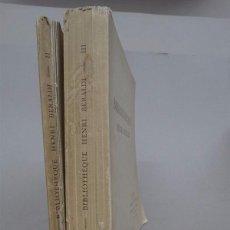 Libros antiguos: BIBLIOGRAFIA - BIBLIOTECA DE HENRI BERALDI - 2 TOMOS - . Lote 74366227