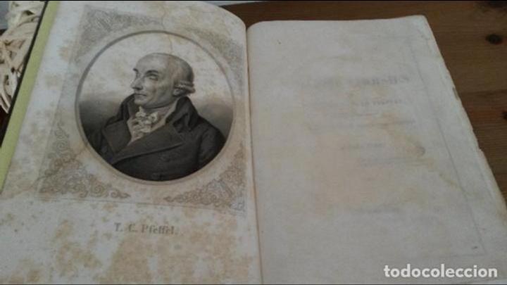 Libros antiguos: POESIES CHOISIES. FABLES. THEOPHILE -CONRAD PFEFFEL. NOTICE BIOGRAPHIQUE. STRASBOURG 1840. FRANCES. - Foto 2 - 74707407