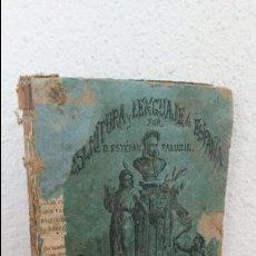 Libros antiguos: ESCRITURA Y LENGUAJE DE ESPAÑA EN PROSA Y VERSO. ESTEBAN PALUZIE Y CANTALOZELLA. BARCELONA 1870. . Lote 74716779