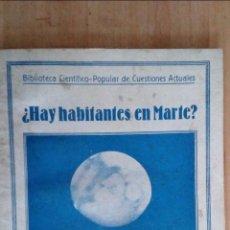 Libri antichi: ¿HAY HABITANTES EN MARTE?. IGNACIO PUIG. Lote 74853647