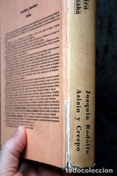 Libros antiguos: LA HERALDICA ESPAÑOLA Y BASKA - JOAQUIN RODOLFO ASIAIN Y CRESPO - BLASONES - TAPA DURA - Foto 2 - 74868047