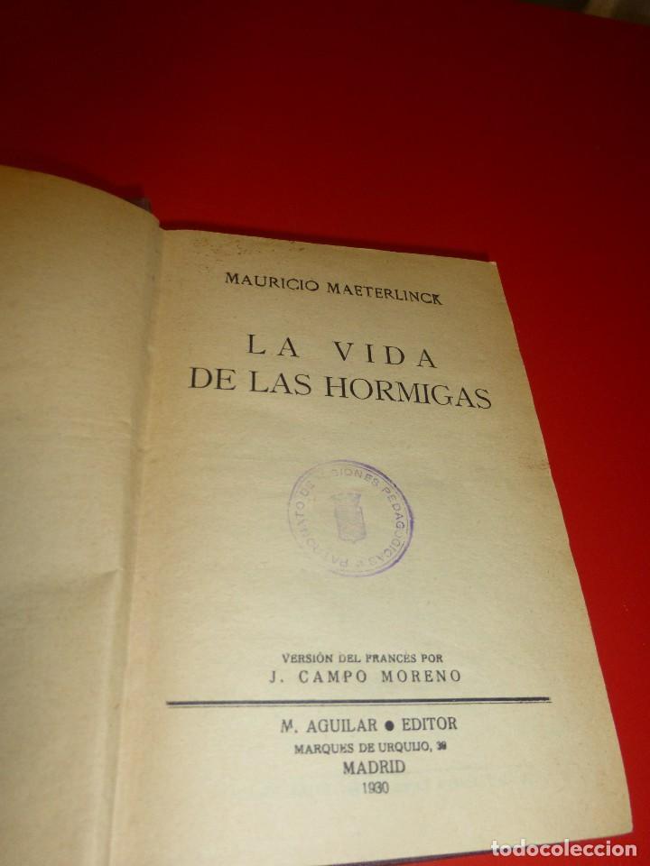 LA VIDA DE LAS HORMIGAS, DE MAURICIO MAETERLINK (Libros Antiguos, Raros y Curiosos - Ciencias, Manuales y Oficios - Otros)