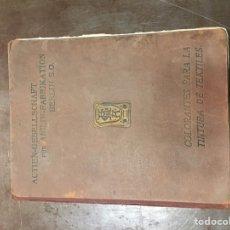 Libros antiguos: LIBRO LOS COLORANTES ACTIEN -GESELLSCHAFT FÜR ANILIN FABRICATION. Lote 75060325