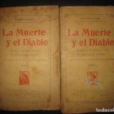 Libros antiguos: POMPEYO GENER. LA MUERTE Y EL DIABLO. Hª Y FILOSOFIA DE LAS DOS NEGACIONES SUPREMAS. 2 VOL. 1907.. Lote 75196735