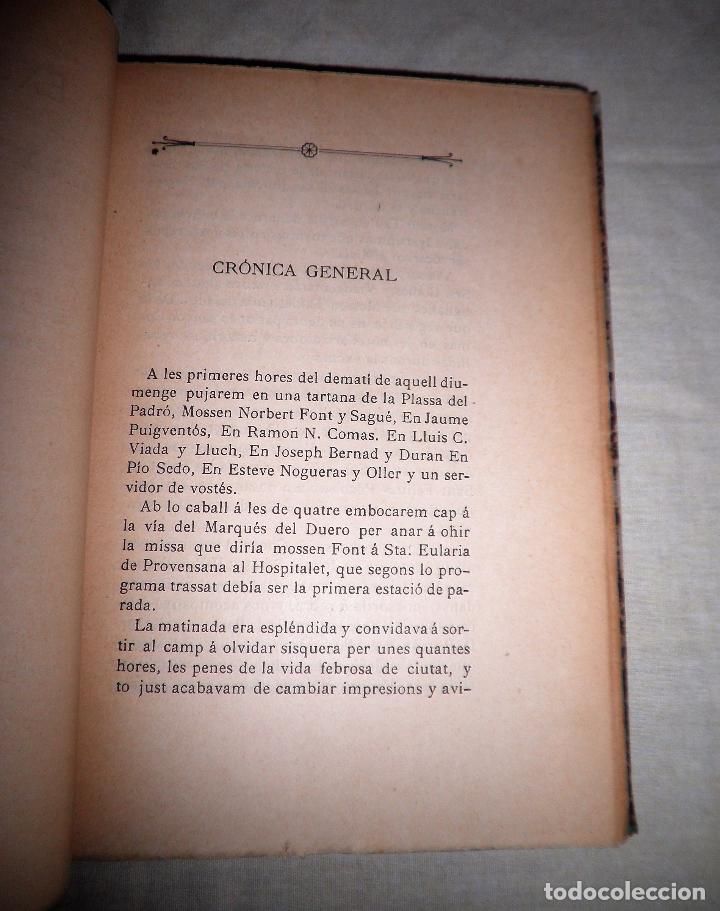 Libros antiguos: EXCURSIÓ A LA SALUT DE SANT FELIU DE LLOBREGAT - AÑO 1901 - MUY RARO. - Foto 4 - 75618855