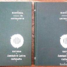 Libros antiguos: HISTÒRIA DE CATALUNYA I I II 1906 ASSOCIACIÓ DE LECTURA CATALANA IMPECABLE. Lote 75761299
