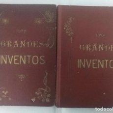 Libros antiguos: LOS GRANDES INVENTOS PUESTOS AL ALCANCE DE LOS NIÑOS. 1911. 2 TOMOS. GRABADOS. Lote 75789555
