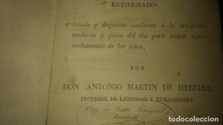 Libros antiguos: Muy raro Libro tesauro de requejo don Antonio Martín heredia año 1828 viene firmado miren fotos - Foto 5 - 75914175
