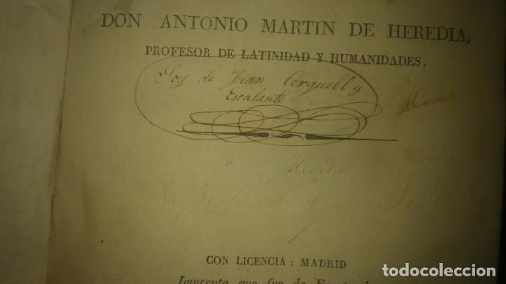 Libros antiguos: Muy raro Libro tesauro de requejo don Antonio Martín heredia año 1828 viene firmado miren fotos - Foto 6 - 75914175