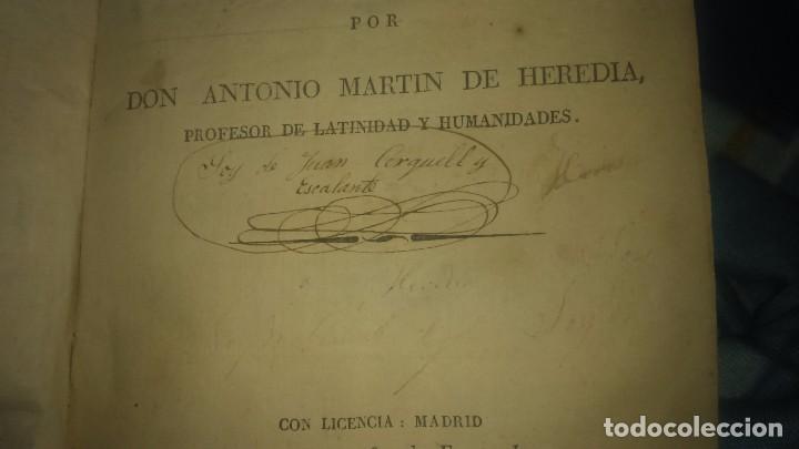 Libros antiguos: Muy raro Libro tesauro de requejo don Antonio Martín heredia año 1828 viene firmado miren fotos - Foto 8 - 75914175