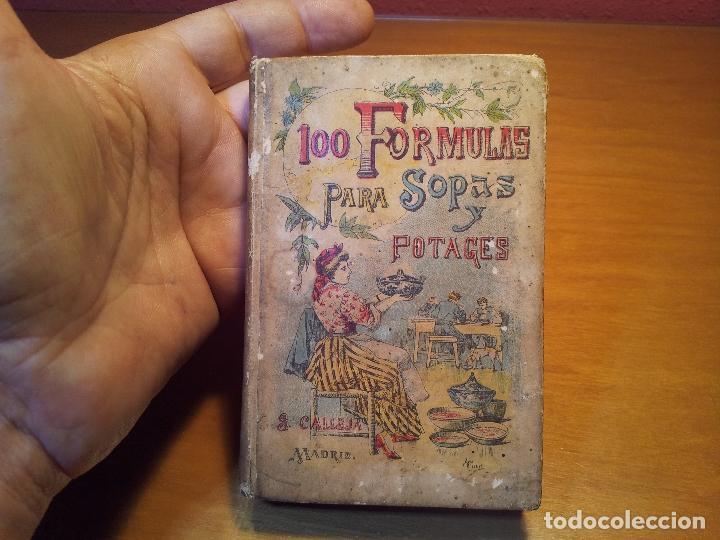 100 FORMULAS PARA SOPAS Y POTAGES (SATURNINO CALLEJA) [MADEMOISELLE ROSE - -(REF-1AC) (Libros Antiguos, Raros y Curiosos - Cocina y Gastronomía)