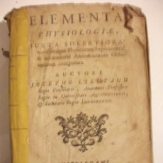 Libros antiguos: MUY RARO 1749 ELEMENTA PHYSIOLOGIAE JUXTA SOLERTIORA POR JOSEPHO LIEUTAUD . Lote 76176619