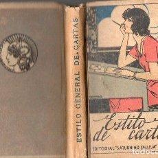 Libros antiguos: ESTILO GENERAL DE CARTAS CALLEJA CON EL LENGUAJE DE LAS FLORES, ABANICO, Y OTRAS CURIOSIDADES. Lote 76318147