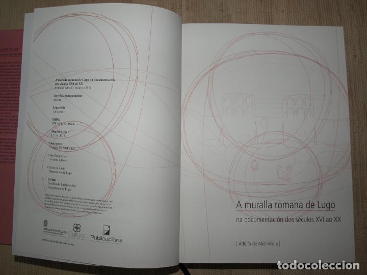 Libros antiguos: Adolfo de Abel Vilela. A Muralla Romana de Lugo na documentación dos séculos XVI ao XX. Galicia. - Foto 5 - 76385095