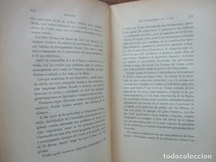 Libros antiguos: HISTORIA DEL MONASTERIO DE YUSTE. DOMINGO DE G. MARÍA DE ALBORAYA. 1906. - Foto 4 - 76492603