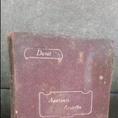 Libros antiguos: COMPENDIO DE ANATOMIA ARTISTICA PARA USO DE ARTISTAS. MATHIAS DUVAL.SAENZ DE JUBERA HERMANOS MADRID.. Lote 76520603