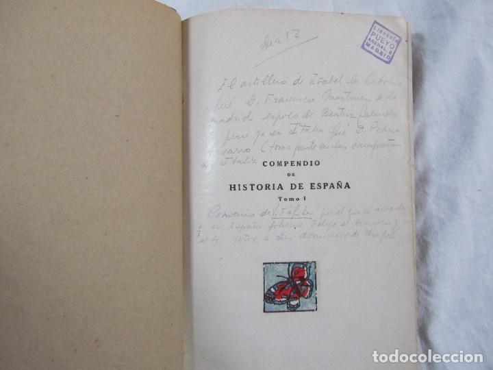 Libros antiguos: Compendio de Historia de España Pedro Aguado 1933 Tomo I - Foto 6 - 76542063