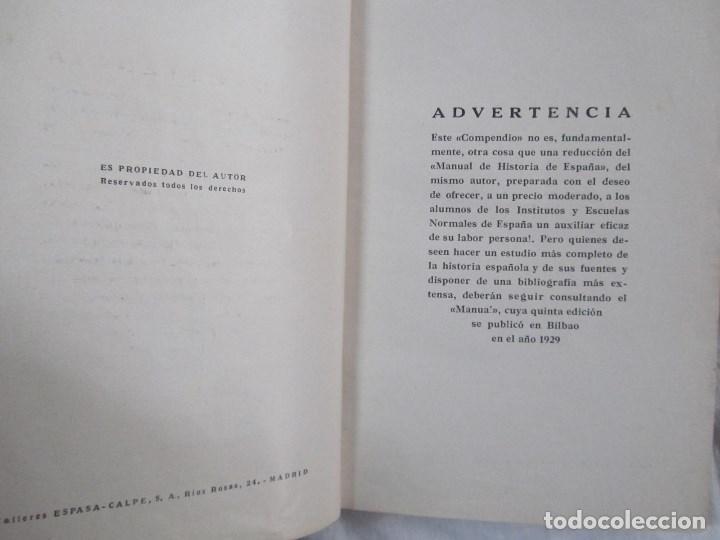 Libros antiguos: Compendio de Historia de España Pedro Aguado 1933 Tomo I - Foto 8 - 76542063