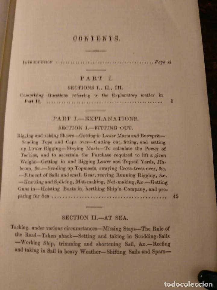Libros antiguos: Alston, Lieut. A.H . Seamanship & its associated dues in the royal navy 1860 Aparejo Maniobra velero - Foto 3 - 76554803