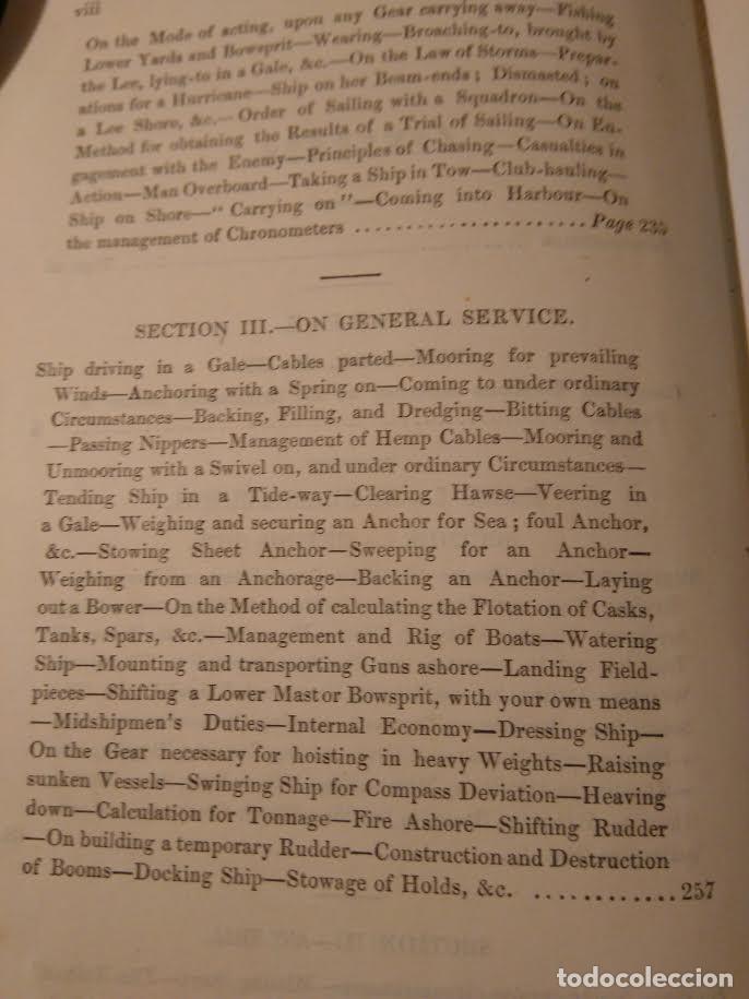 Libros antiguos: Alston, Lieut. A.H . Seamanship & its associated dues in the royal navy 1860 Aparejo Maniobra velero - Foto 4 - 76554803