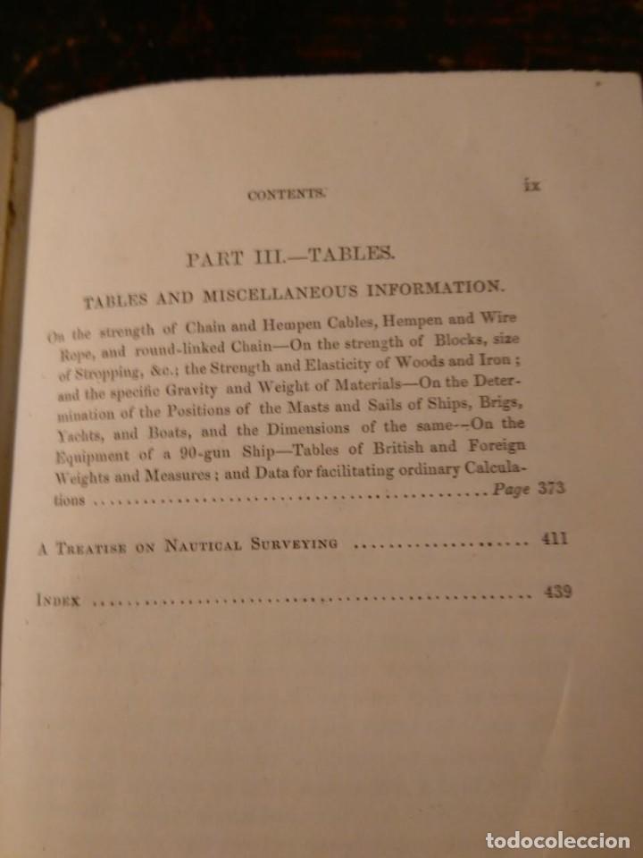 Libros antiguos: Alston, Lieut. A.H . Seamanship & its associated dues in the royal navy 1860 Aparejo Maniobra velero - Foto 5 - 76554803
