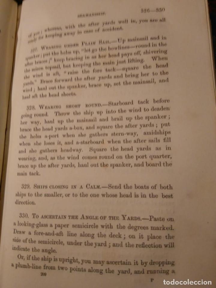 Libros antiguos: Alston, Lieut. A.H . Seamanship & its associated dues in the royal navy 1860 Aparejo Maniobra velero - Foto 7 - 76554803