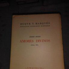 Libros antiguos: AMORES DIVINOS. Lote 76666711