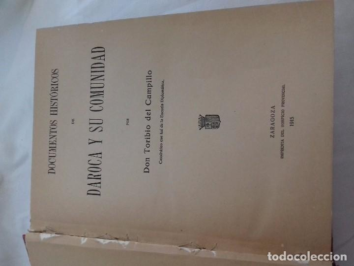 Libros antiguos: Documentos históricos de daroca y su comunidad - ARAGON -hospicio provincial, año 1. 915 por d. t - Foto 3 - 76678107