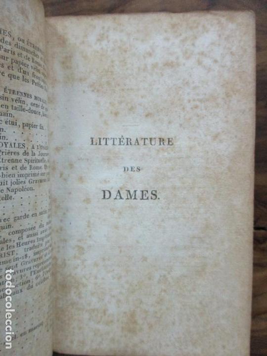 Libros antiguos: LITTERATURE DES DAMES OU MORCEAUX CHOISIES DES MEILLEURS AUTEURS ANCIENS ET MODERNES. C. 1812. - Foto 3 - 76840363