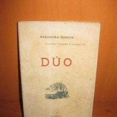 Libros antiguos: DUO. SEBASTIAN GOMILA. LIBRERIA ANTONIO LOPEZ 1905.. Lote 76938397