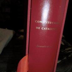 Libros antiguos: CONSTITUCIONS DE CATALUNYA,INCUNABLE DE 1495,EDICION FACSIMIL 44/500,ESTUCHADA 779 PP. Lote 77098689