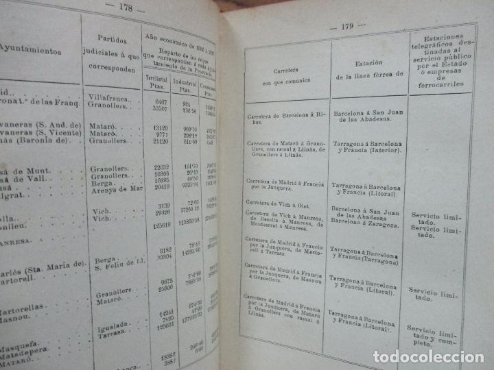 Libros antiguos: BARCELONA Y SU PROVINCIA. Guía-itinerario descriptiva, estadística y pintoresca. MARTÍ DE SOLÁ, 1888 - Foto 6 - 77235233