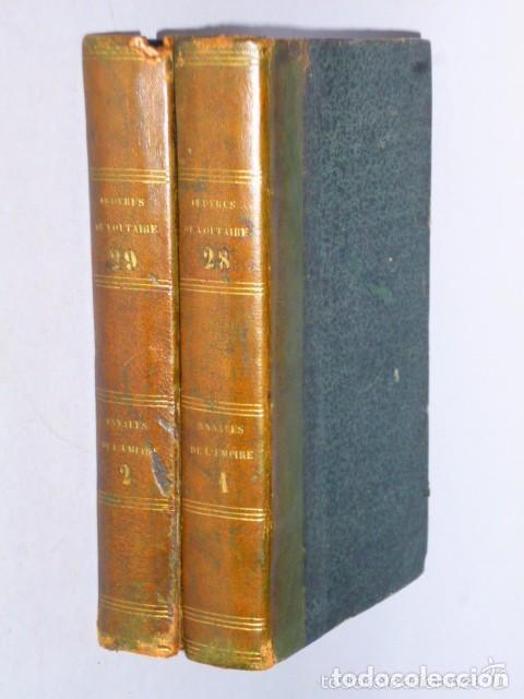 ANNALES DE L´EMPIRE DEPUIS CHARLEMAGNE (VOLTAIRE, 2 TOMOS, 1785) (Libros Antiguos, Raros y Curiosos - Otros Idiomas)
