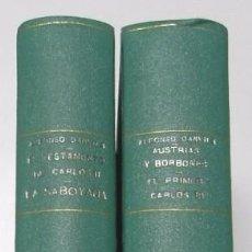 Libros antiguos: LAS LUCHAS FRATRICIDAS DE ESPAÑA (4 LIBROS EN 2 TOMOS) - ALFONSO DANVILA. Lote 77299205