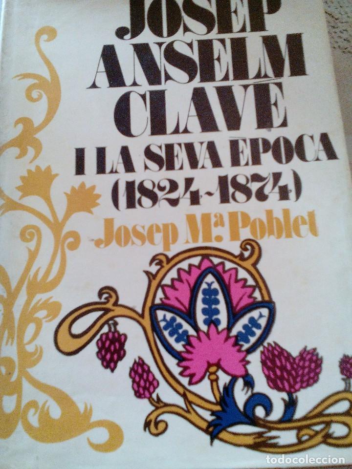 C2_LIBRO JOSEP ANSELM CLAVE I LAVSEVA EPOCA(1824_1874)MIDE APROX23X14X3 (Libros Antiguos, Raros y Curiosos - Literatura Infantil y Juvenil - Otros)
