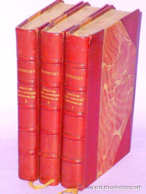 DISCOURS SUR L´HISTOIRE UNIVERSELLE. (3 TOMOS, 1875 ) (Libros Antiguos, Raros y Curiosos - Otros Idiomas)