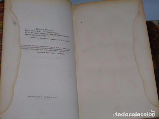 Libros antiguos: HISTOIRE DE LA CONQUETE DE L'ANGLETERRE PAR LES NORMANDS..-. (4 TOMOS, 1843) - Foto 3 - 77373933