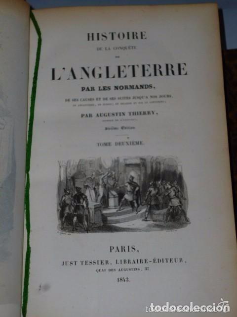 Libros antiguos: HISTOIRE DE LA CONQUETE DE L'ANGLETERRE PAR LES NORMANDS..-. (4 TOMOS, 1843) - Foto 8 - 77373933