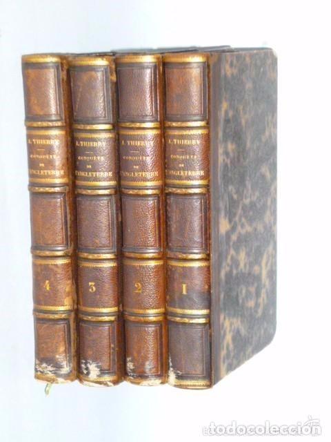 Libros antiguos: HISTOIRE DE LA CONQUETE DE L'ANGLETERRE PAR LES NORMANDS..-. (4 TOMOS, 1843) - Foto 13 - 77373933